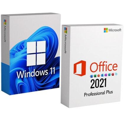 COMBO 10: Windows 11 + Office 2021 Professional Plus – 1 PC